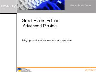 Great Plains Edition  Advanced Picking