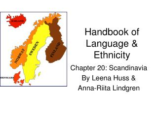 Handbook of Language  Ethnicity
