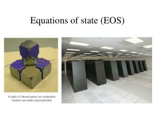 Equations of state EOS