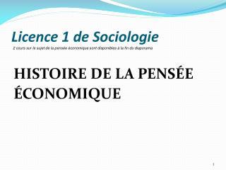 Licence 1 de Sociologie
