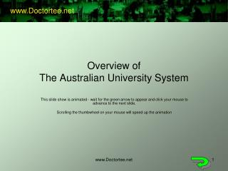 Overview of The Australian University System