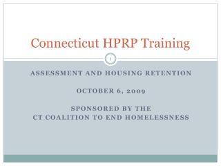 Connecticut HPRP Training