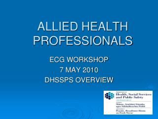 ALLIED HEALTH PROFESSIONALS