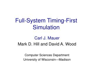 Full-System Timing-First Simulation