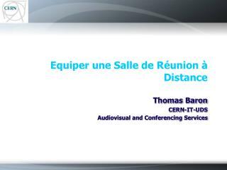 Equiper une Salle de R union   Distance