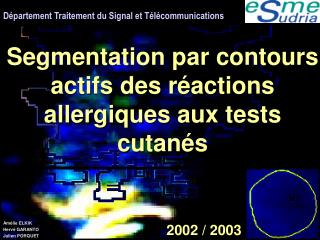 D partement Traitement du Signal et T l communications