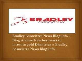 Bradley Associates News Blog Info »Blog Archive New best way