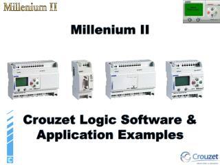Millenium II      Crouzet Logic Software  Application Examples