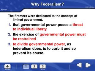 Why Federalism
