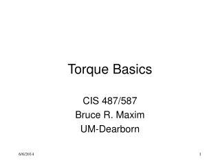 Torque Basics