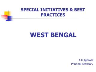 SPECIAL INITIATIVES  BEST PRACTICES