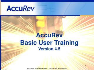 AccuRev Basic User Training Version 4.5