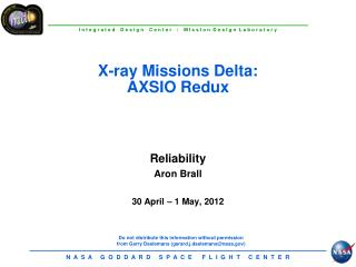 Reliability Aron Brall  30 April   1 May, 2012