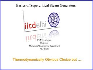 Basics of Supercritical Steam Generators