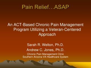 Pain Relief ASAP