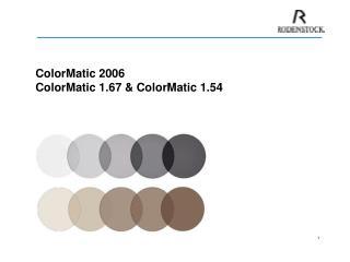 ColorMatic 2006 ColorMatic 1.67  ColorMatic 1.54