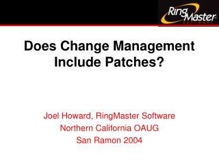Does Change Management Include Patches