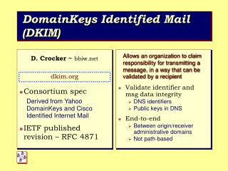 DomainKeys Identified Mail DKIM