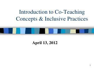 Introduction to Co-Teaching Concepts  Inclusive Practices