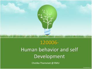 120006- Human behavior and self Development