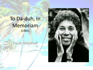 To Da-duh, In Memoriam 1985
