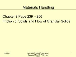 Chapter 9 Page 239   256 Friction of Solids and Flow of Granular Solids
