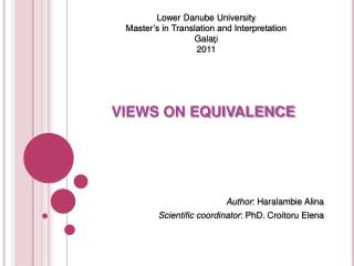 VIEWS ON EQUIVALENCE
