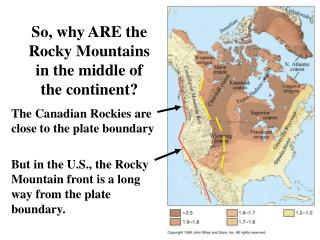 So, why ARE the Rocky Mountains in the middle of the continent