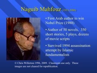 Naguib Mahfouz 1911-2006