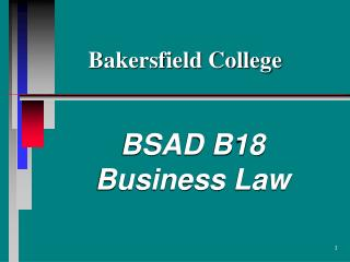 BSAD B18 Business Law