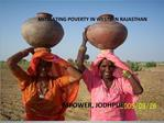 MITIGATING POVERTY IN WESTERN RAJASTHAN