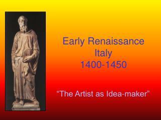 Early Renaissance Italy 1400-1450