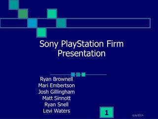Sony PlayStation Firm Presentation