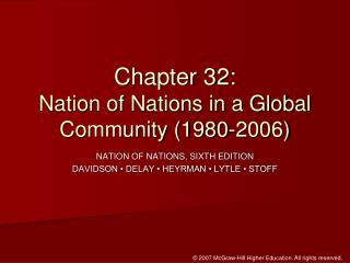 Chapter 32:  Nation of Nations in a Global Community 1980-2006