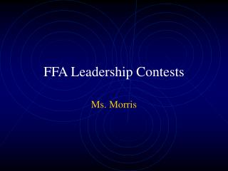 FFA Leadership Contests