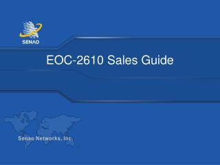 EOC-2610 Sales Guide