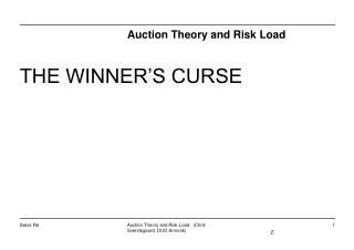 Auction Theory and Risk Load