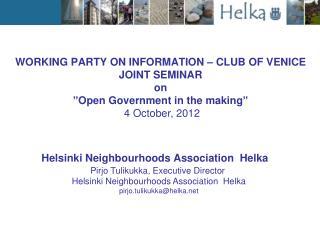 Helsinki Neighbourhoods Association  Helka