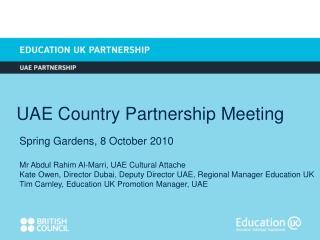UAE Country Partnership Meeting