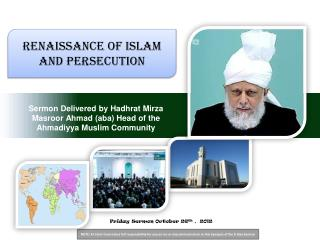 Sermon Delivered by Hadhrat Mirza Masroor Ahmad aba Head of the Ahmadiyya Muslim Community