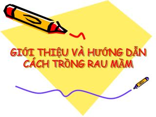 GII THIU V  HUNG DN C CH TRNG RAU MM