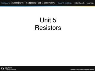 Unit 5 Resistors