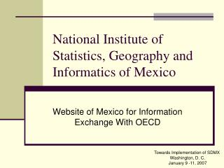National Institute of Statistics, Geography and Informatics of Mexico