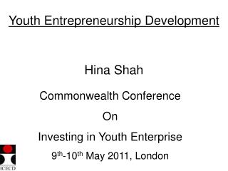 Youth Entrepreneurship Development
