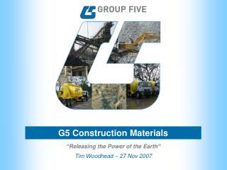 G5 Construction Materials