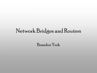 Network Bridges and Routers