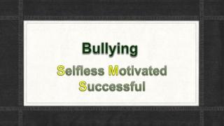 Bullies Are Us