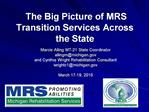 The Big Picture of MRS Transition Services Across the State