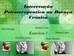 Interven  o Psicoterap utica na Doen a Cr nica   Exerc cio 2