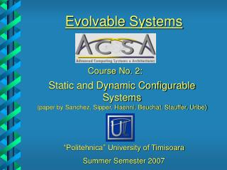 Summer Semester 2007